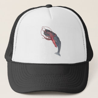 Squid and Whale Trucker Hat