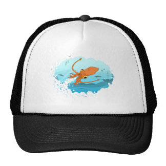 squid graphic design cap