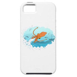squid graphic design iPhone 5 cases