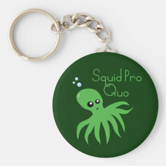 Squid Pro Quo Basic Round Button Key Ring