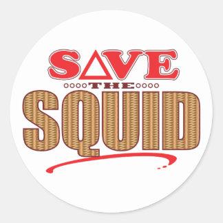 Squid Save Classic Round Sticker
