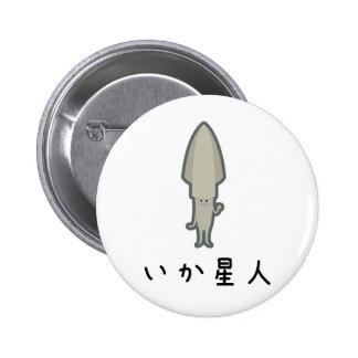 Squid star person 6 cm round badge
