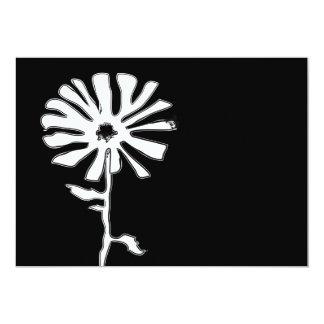 squiggle flower 13 cm x 18 cm invitation card