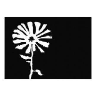 squiggle flower invitation