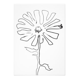 squiggle flower announcement