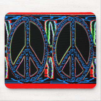 Squiggle Peace Mouse Pads