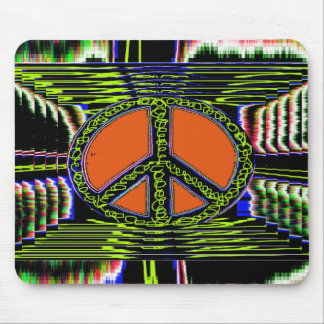 Squiggle Peace Sign Mouse Pad