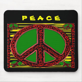 Squiggle Peace Sign Mouse Pads