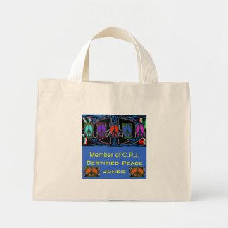 Squiggle Peace Sign Windows Bag