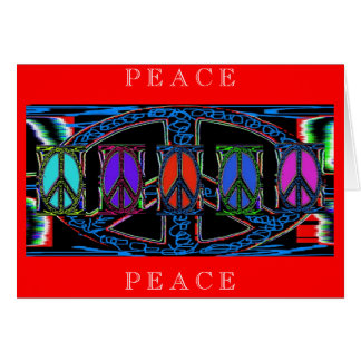Squiggle Peace Sign Windows, Greeting Card