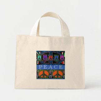 Squiggle Peace Sign Windows Tote Bag