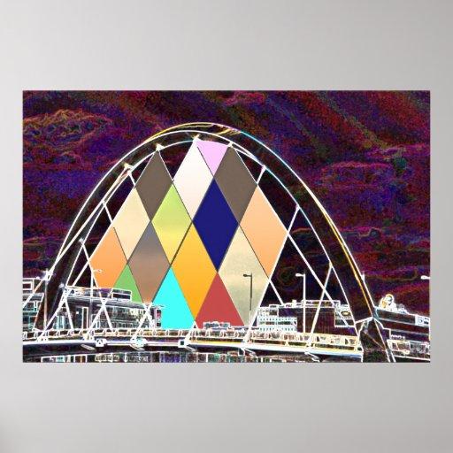 Squinty Bridge Poster Print