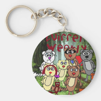 Squirel Tree smaller Basic Round Button Key Ring