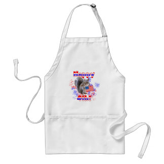 Squirrel 4th of July Standard Apron