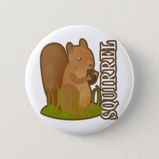 Squirrel 6 Cm Round Badge