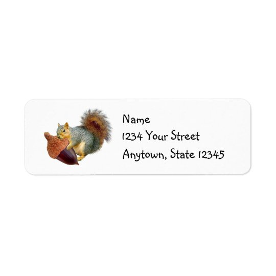 Squirrel Acorn Address Labels