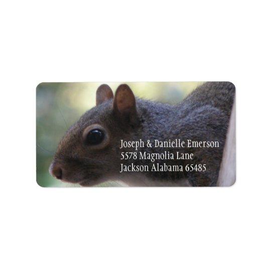 Squirrel Address Sticker Address Label