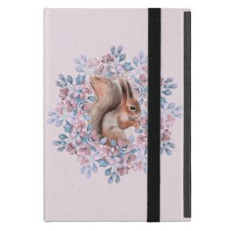 Squirrel and flowers iPad mini case