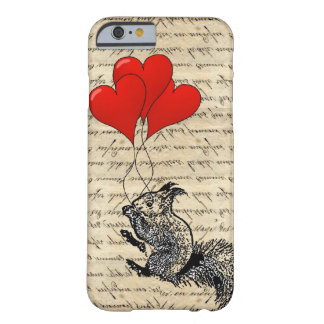 Squirrel and heart balloons iPhone 6 case
