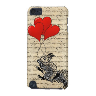 Squirrel and heart balloons iPod touch (5th generation) cover