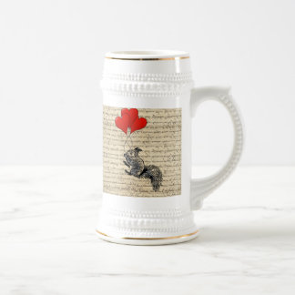 Squirrel and heart balloons mugs
