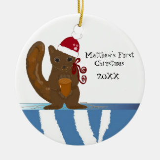 Squirrel Baby First Christmas Christmas Ornament