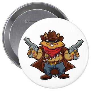 Squirrel Bandit 10 Cm Round Badge
