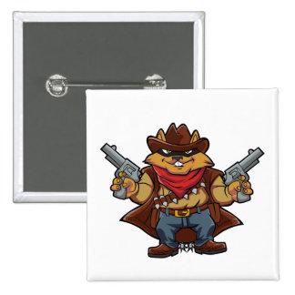 Squirrel Bandit 15 Cm Square Badge