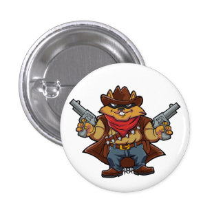 Squirrel Bandit 3 Cm Round Badge
