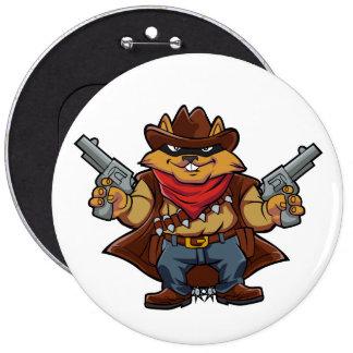 Squirrel Bandit 6 Cm Round Badge