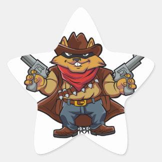 Squirrel Bandit Star Sticker