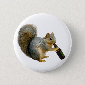 Squirrel Beer 6 Cm Round Badge
