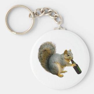 Squirrel Beer Key Ring