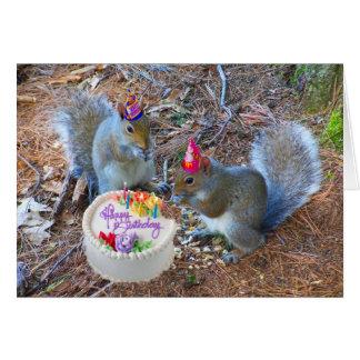 Squirrel birthday card