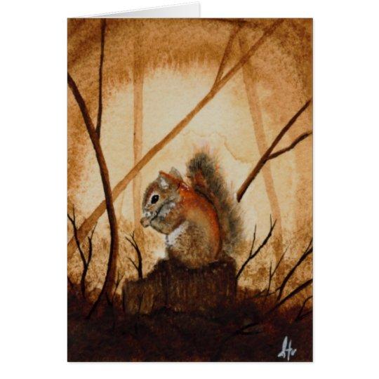 Squirrel Blank Greeting Card