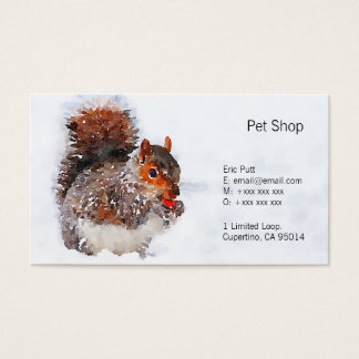 "Squirrel Business Cards, 3.5"" x 2.0"", 100 pack"