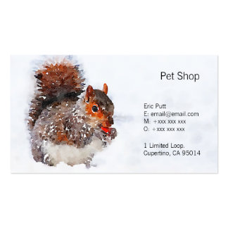 """Squirrel Business Cards, 3.5"""" x 2.0"""", 100 pack Pack Of Standard Business Cards"""