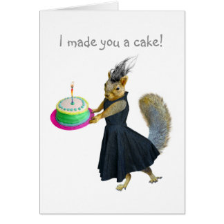 Squirrel Cake Mother's Day Card