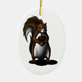 Squirrel Ceramic Oval Decoration