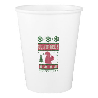 Squirrel Christmas Paper Cup