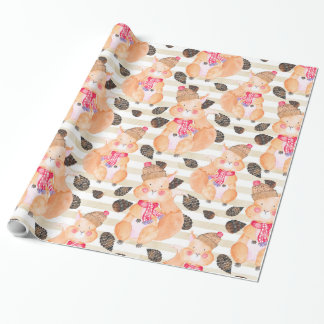 Squirrel Christmas pattern Wrapping Paper