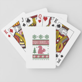 Squirrel Christmas Playing Cards
