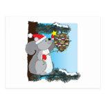 Squirrel Christmas Postcard