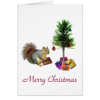 Squirrel Christmas Tree Card