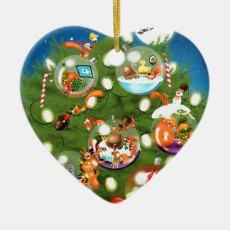 Squirrel Christmas Tree Christmas Ornament
