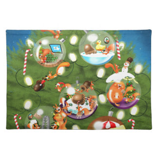 Squirrel Christmas Tree Placemat