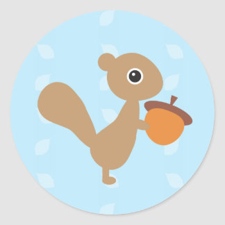 Squirrel! Classic Round Sticker