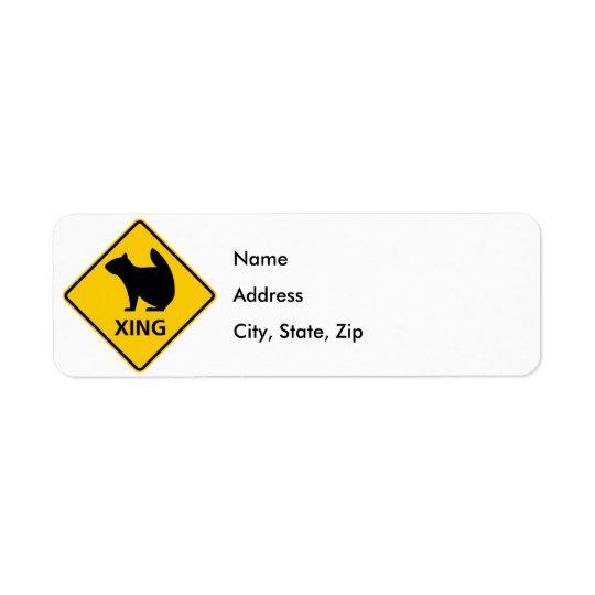 Squirrel Crossing Highway Sign
