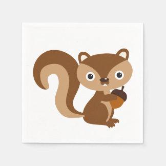 Squirrel Disposable Serviettes