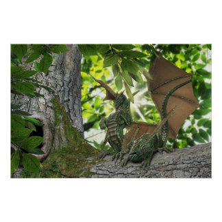 Squirrel Dragons Poster